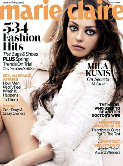 Mila Kunis Marie Claire Cover