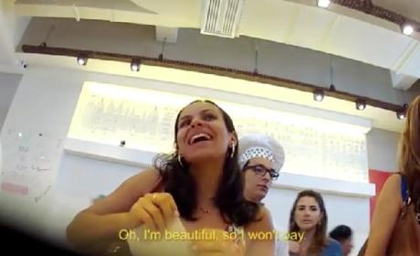 Beautiful Women Eat for Free at Brazil Fast Food Chain
