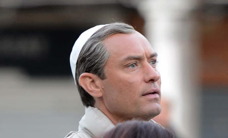 Jude Law Films 'The Young Pope' in Venice