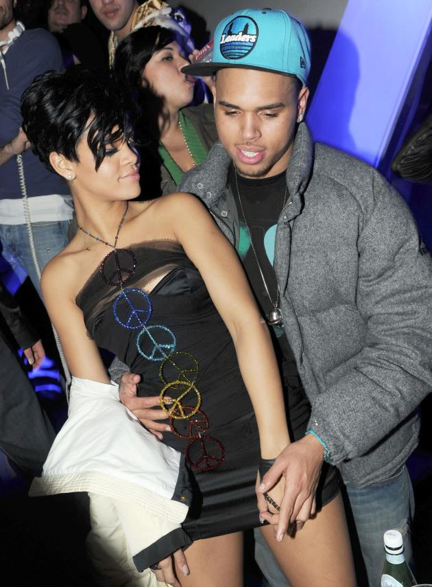 Brown and Rihanna