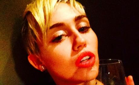 Miley Cyrus Drunk Photo