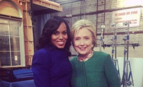 Hillary Clinton and Kerry Washington