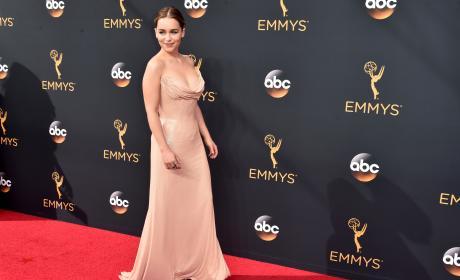 Emilia Clarke at the 2016 Emmys