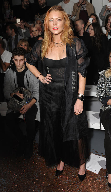 Lindsay lohan at a fashion show