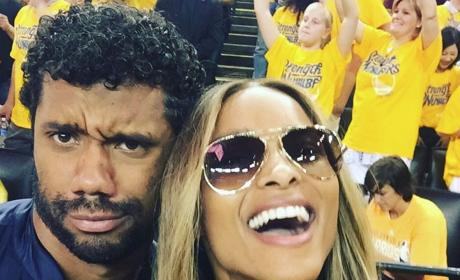 Russell Wilson and Ciara Selfie