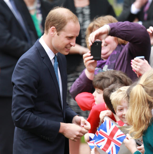 Prince William Says Hello