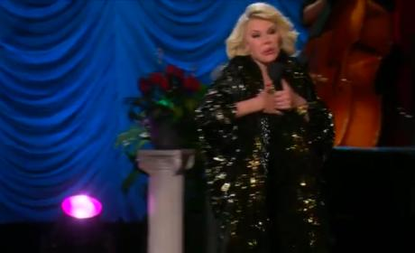 Joan Rivers Mocks, Poses Like Angelina Jolie on Fashion Police