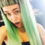Miley Cyrus with Green Hair