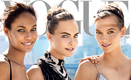 "Karlie Kloss, Cara Delevingne Cover Vogue ""Instagirls"" Issue: See the Pic!"