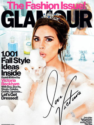 Victoria Beckham Glamour Cover