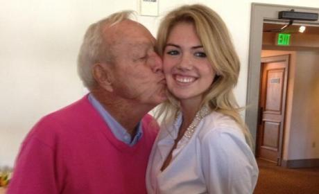 Kate Upton: Kissed By Arnold Palmer!