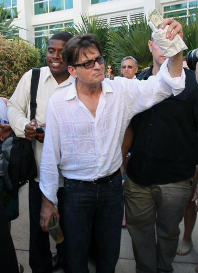 Charlie Sheen in Miami