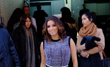 Eva Longoria Stops by Huffington Post