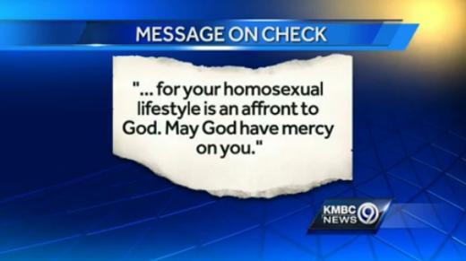 Anti-gay note