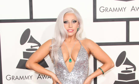 Lady Gaga at the 2015 Grammys