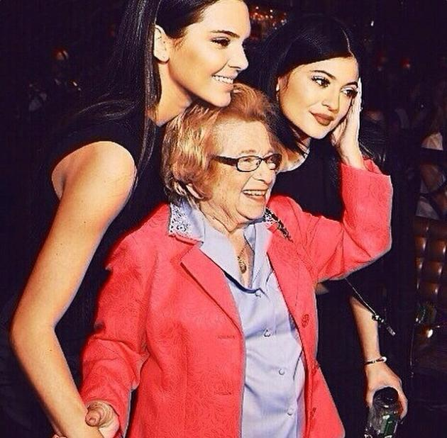 Kylie and Kendall Jenner With Dr. Ruth