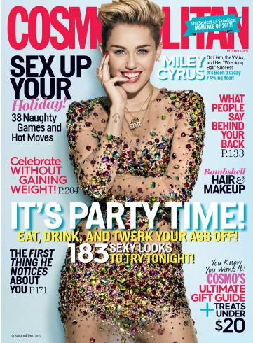 Miley Cyrus on Cosmo