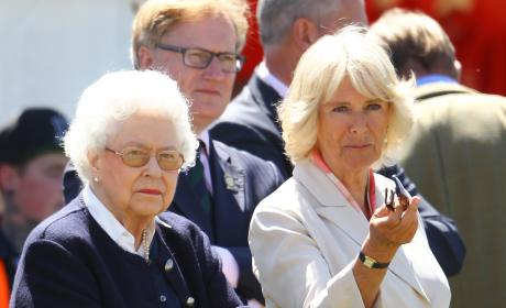 The Queen and Camilla: Royal Windsor Horse Show 2015