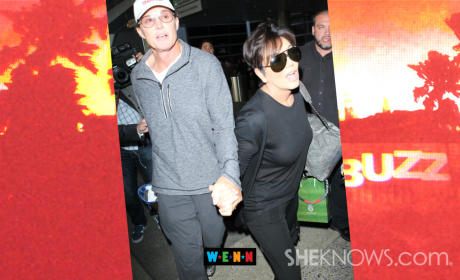 Bruce and Kris Jenner: Holding Hands at LAX!!!