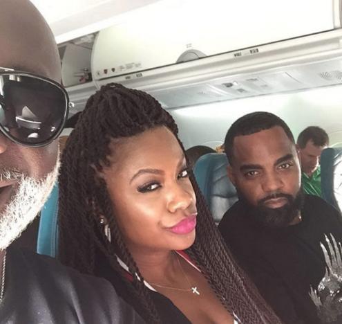 Peter Thomas, Kandi Burruss & Todd Tucker Looking Great On Flight