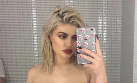 Kylie Jenner Sheer Lingerie Photo