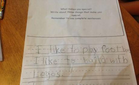 Five-Year-Old Likes Legos and Football, is Also GOD