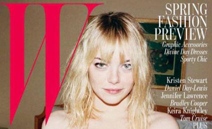 Emma Stone, Bra Cover W Magazine