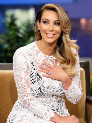 Kim Kardashian Engagement Ring Photo