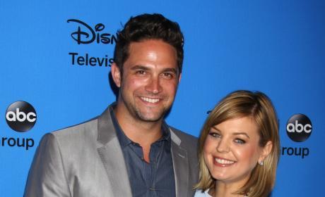 Brandon Barash and Kirsten Storms