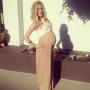 Kristin Cavallari Baby Bump Crop Top