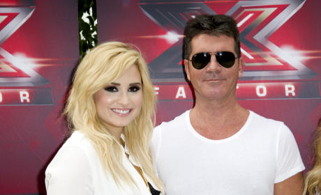 Demi Lovato with Simon Cowell