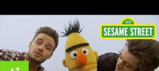Harry Styles and Liam Payne on Sesame Street