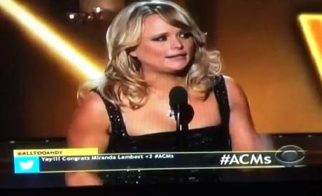 Miranda Lambert Wins Female Vocalist of the Year, Breaks Down on Stage