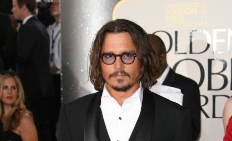 Johnny Depp Golden Globe photo