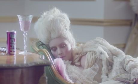 Kim Kardashian Channels Audrey Hepburn and Marie Antoinette for Hype Energy Film