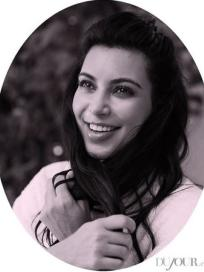Kim Kardashian with a Smile
