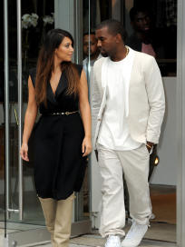 Kanye and Kim in Soho