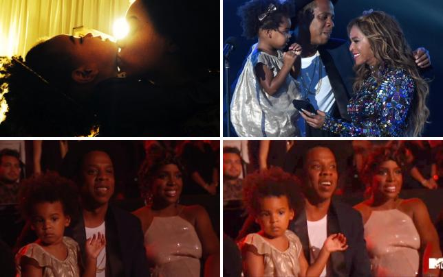 Beyonce kisses blue ivy