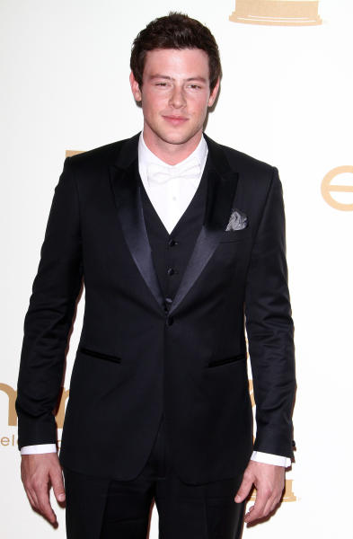 Cory Monteith at the Emmys
