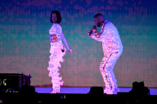 Rihanna and Drake Perform At the 2016 BRIT Awards