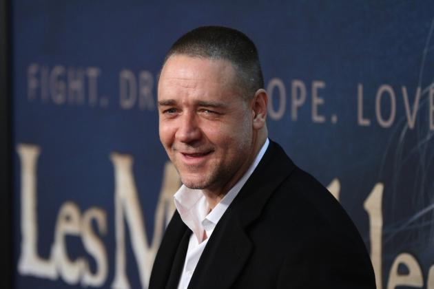 Russell Crowe at Les Mis Premiere