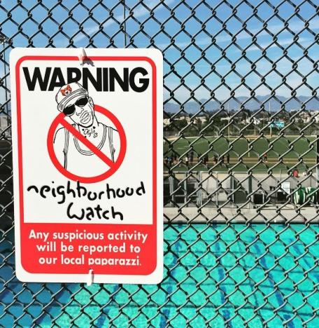 Beware of Tyga Sign
