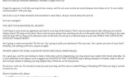 Dog Walker Craigslist Ad Goes Viral: It's Hilarious, But is it Legit?