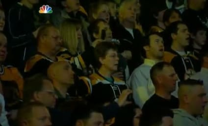 "Boston Bruins Fans Stand ""Strong,"" Sing National Anthem"