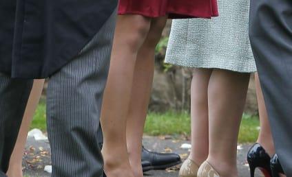 Pippa Middleton Turns Heads in Raspberry Dress