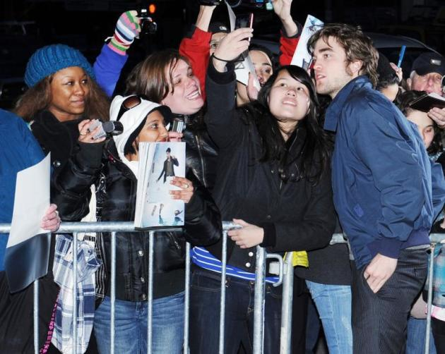 Posing with Fans