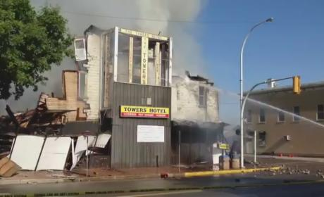 Cat Escapes Burning Building, Walks Away from Rubble Like a Boss