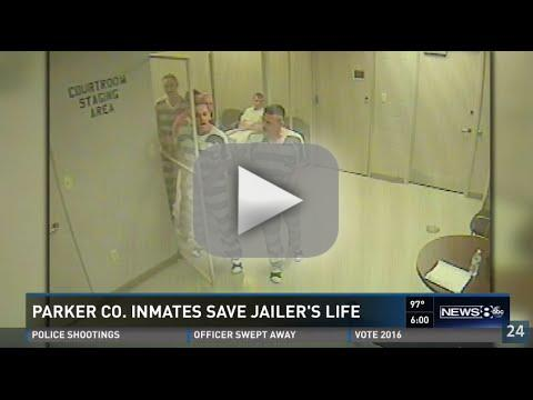 Inmates break out of cell save guards life