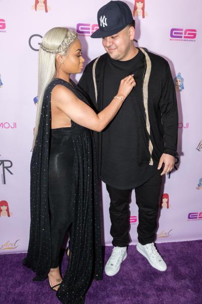 Blac Chyna Lovingly Picks Something Off Rob Kardashian's Shirt