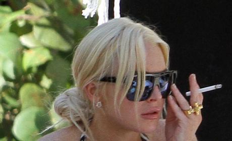 Lindsay Lohan Dumps Riley Giles